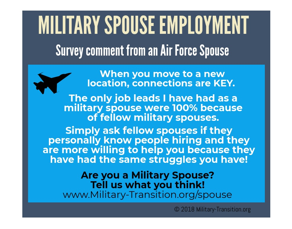 air force wife employment