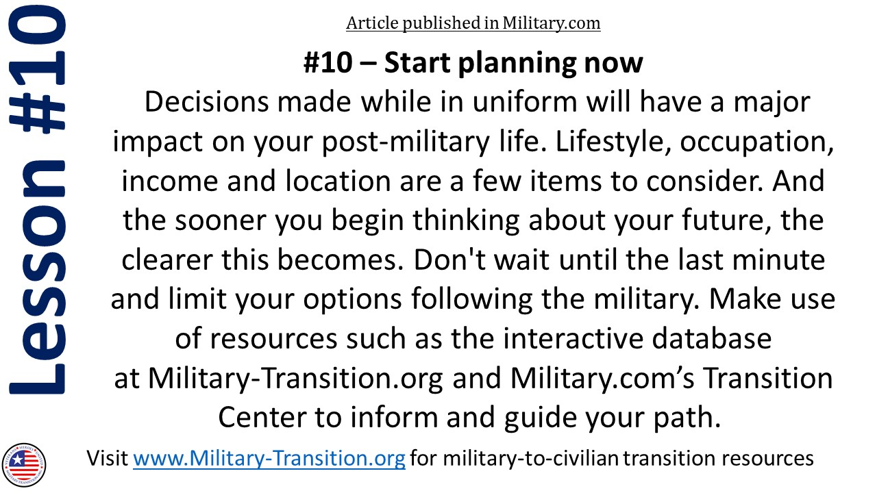 best lessons from the military