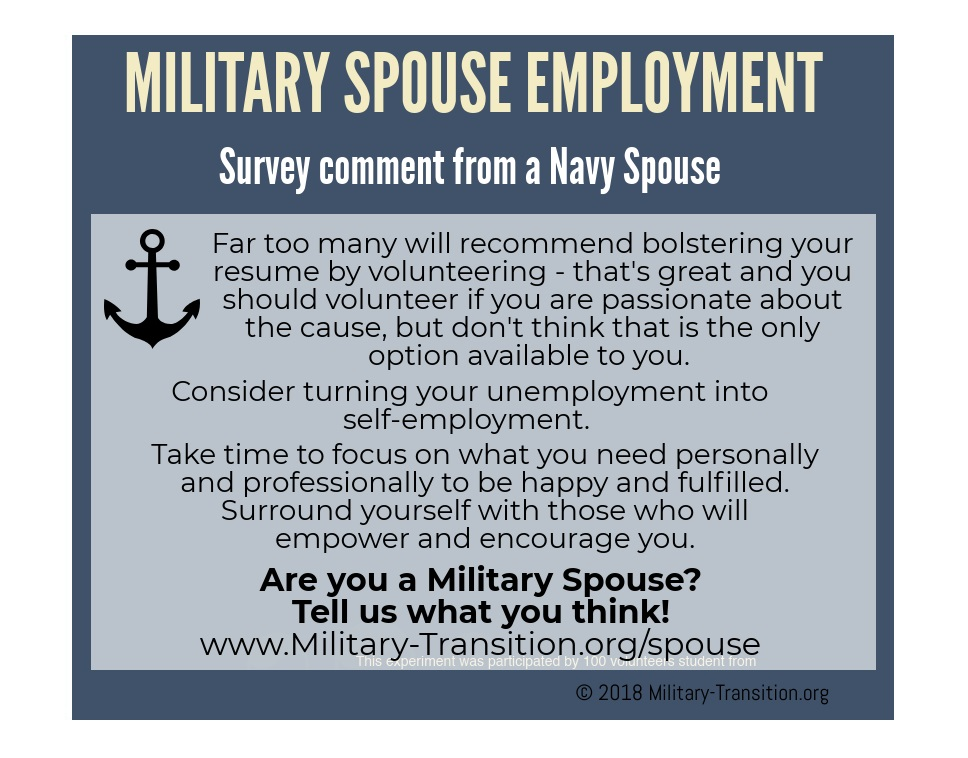 navy wife employment
