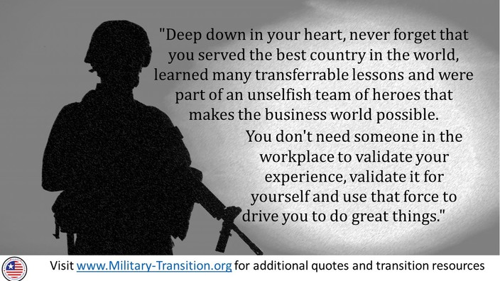 transition quote army