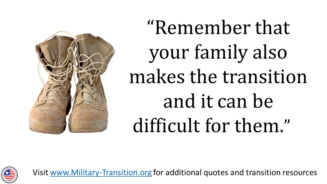 military family transition