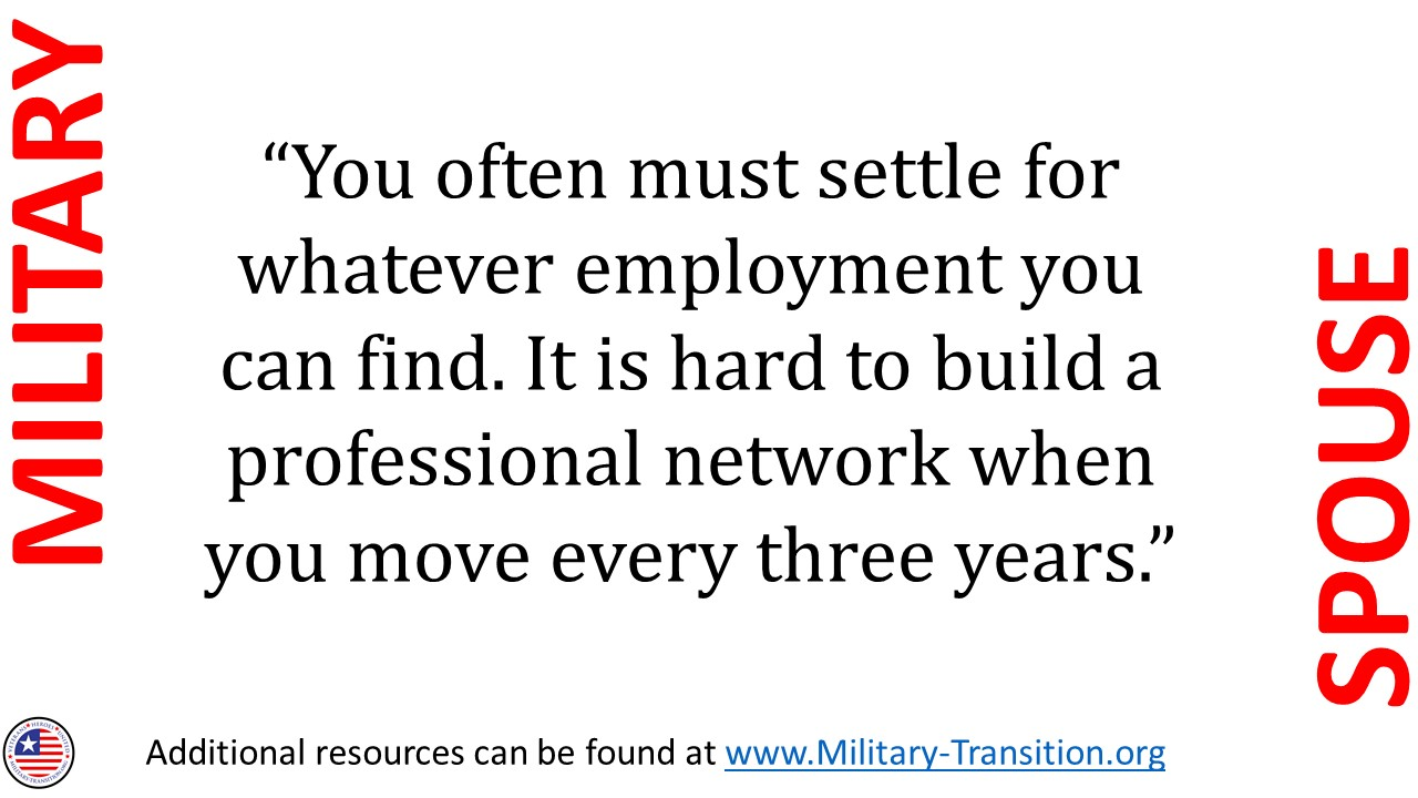 military spouse; military family; employment; military spouse jobs