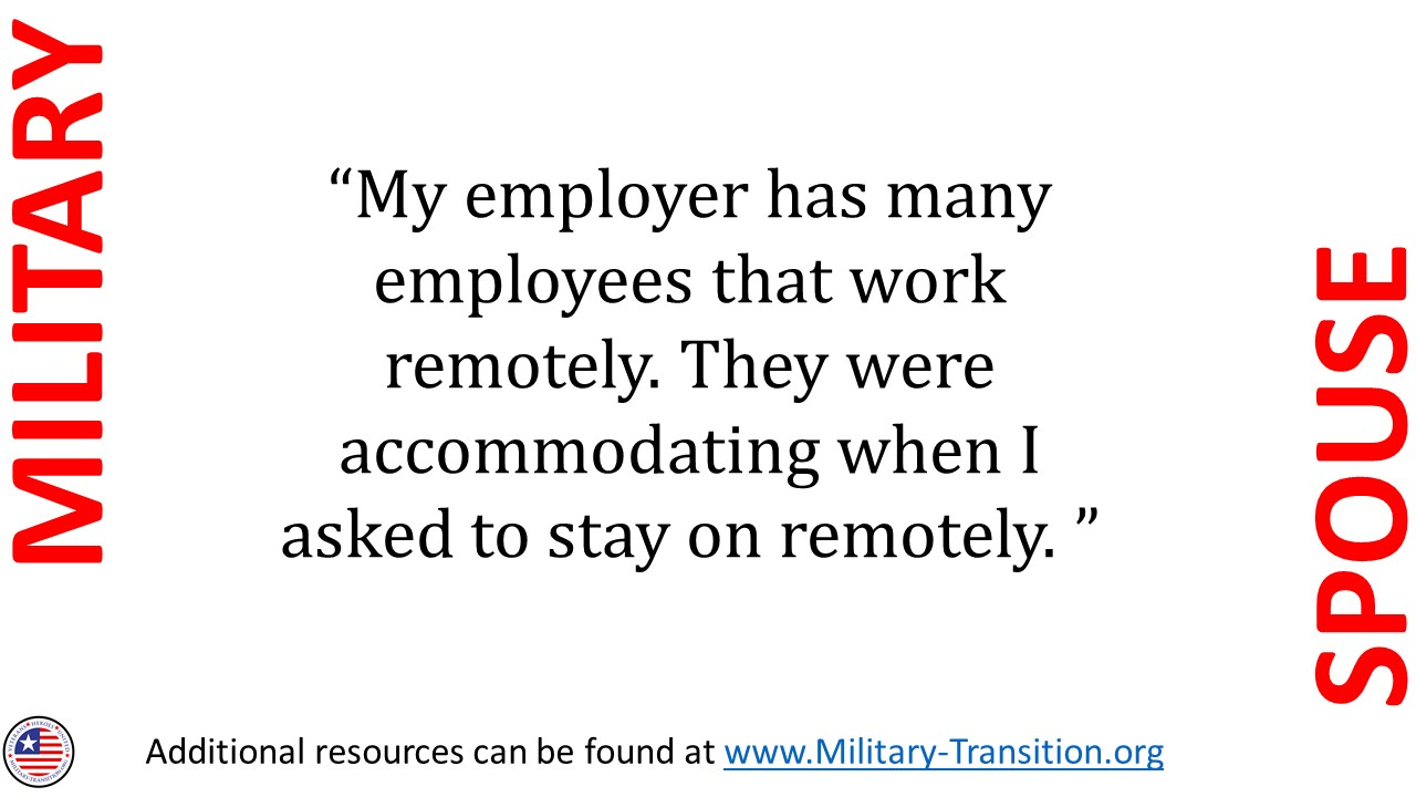 #militaryspouse #military family #employment